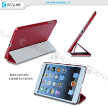 New unique stand leather slim smart cover case for ipad air mini 2 3 4