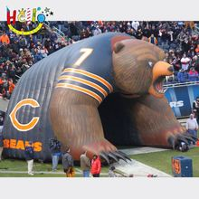 Fantasty Inflatable bear Tunnel/Inflatable football helmet tunnel /inflatable football tunnel tent