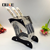 2017 new premium acrylic knife display racks for kitchen