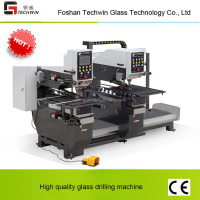 Techwin CNC glass four side/double head drill grinding hole machine