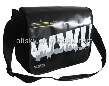 Tarpaulin shoulder bag wholesale printed tarpaulin bag with flap