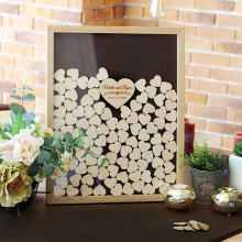 Personalized Wedding guest book for wedding Drop top box