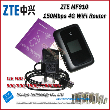 Original Unlock ZTE MF910 150Mbps 4G LTE Router With Sim Card Slot With LCD Screen