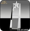 China Heavyweight crystal Arch Star Shaped Award Trophy Crafts