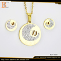 artificial round shape jewelry set for man chain stainless steel