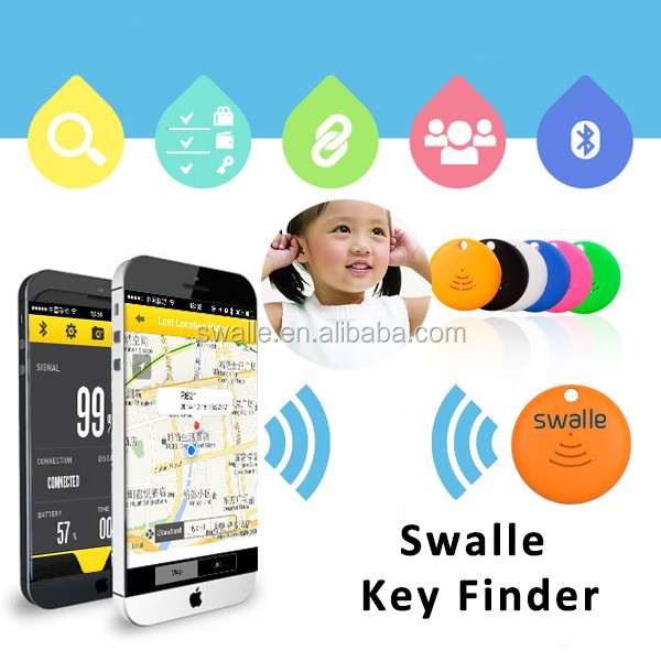 2017 Trending products keychain phone wallet bluetooth smart anti-lost alarm key finder