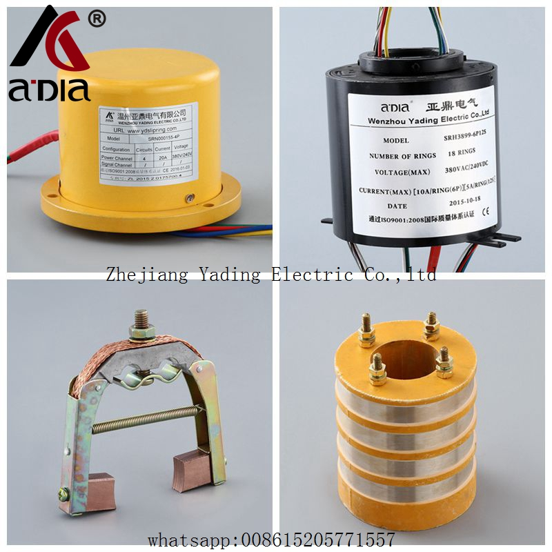 Pilling Drilling machinery rotary union slip ring <strong>O2</strong> 155mm 20A/Ring 380V 4 rings OEM CE ROHS