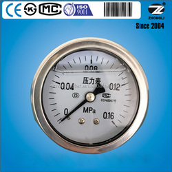 bourdon tube type 50mm 0.16MPa hydraulic oil pressure gauges with CE