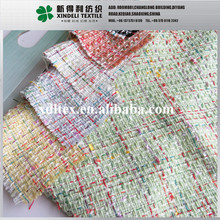 Beautiful check girls cloth garments acrylic and cotton blend fabric manufacrure