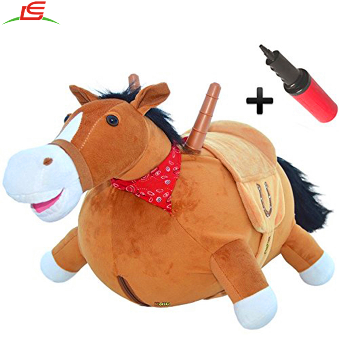 Hopping Ridding Jumping Pump Included Bouncy Horse Inflatable Ride-On Pony