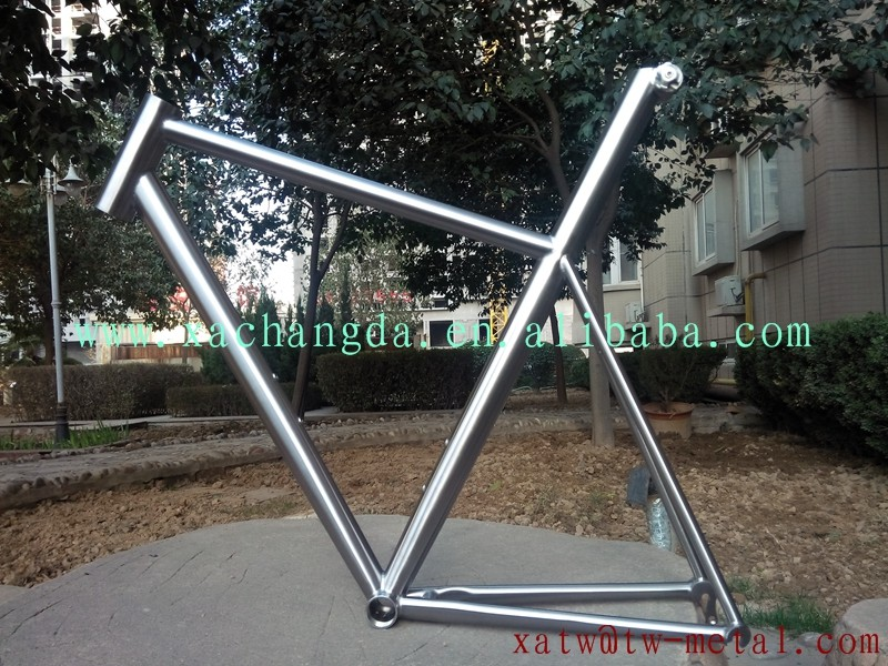 titanium road bicycle frame Integrated seat post titanium road bike frame Egg-Shaped seat tube