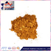 Foshan economic golden pigment pearl effect on ceramics and mosaic raw material