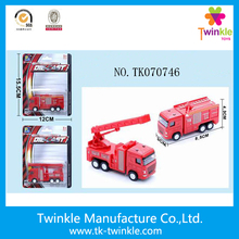 Wholesale diecast car toys pull back car metal fire truck