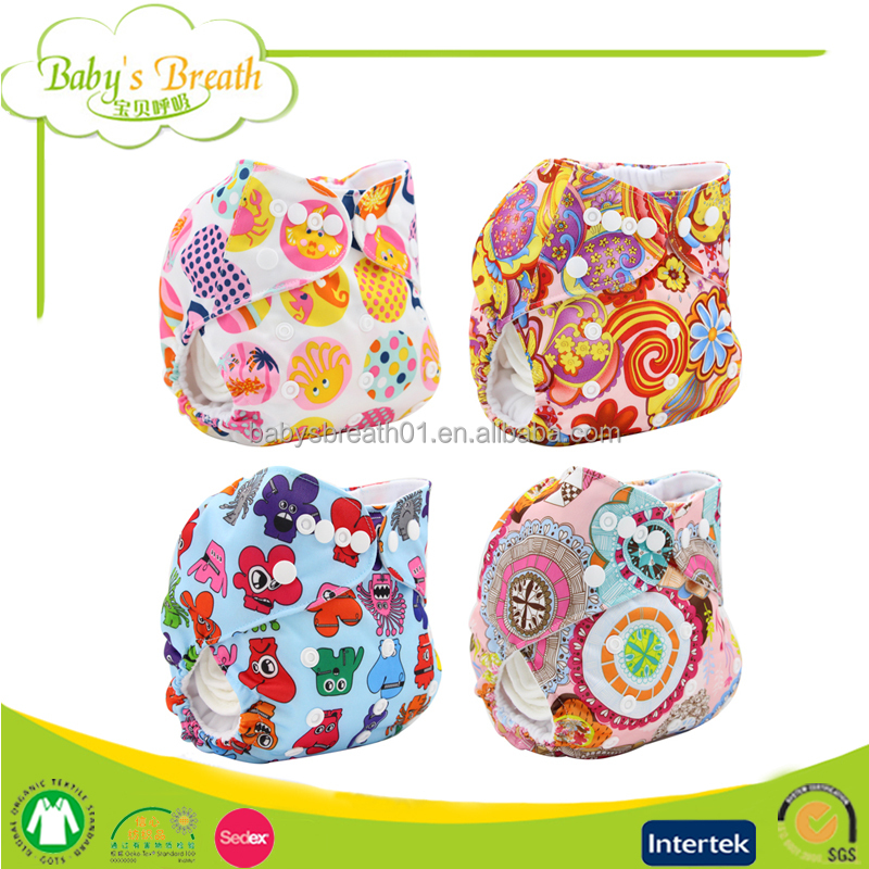 PSF-05 free sample cartoon print manufacture reusable washable baby cloth diapers