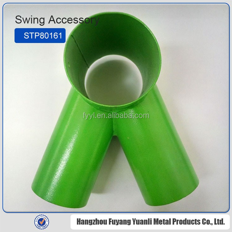 Metal swing set accessories,practical stainless steel three way pipe fitting