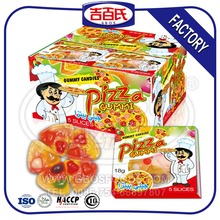 Good Quality Sweet Halal Pizza Gummy Candy With Box Packing