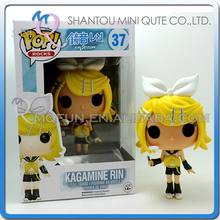 Mini Qute Funko Pop Anime Hatsune Miku Kagamine Rin girl gift super hero action figures cartoon models educational toy NO.FP 37
