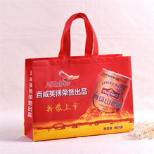 wholesale customized recycled non woven wine bags