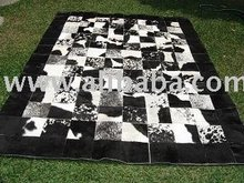 Hair On Cow Hide Patchwork Leather Rugs