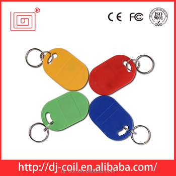 Customed logo printed ABS em4100 tk4100 125khz rfid key fob