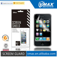 Brand Vmax Wholesale clear anti-glare anti oil washable smartphone screen protector for iPhone3g