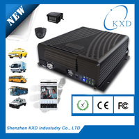 4 channel SD card 3G live video streaming gps tracker with RS232/485 for sensors connection and PTZ control
