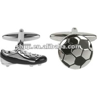 Sports Football Shoes And Soccer Accessory Cufflinks