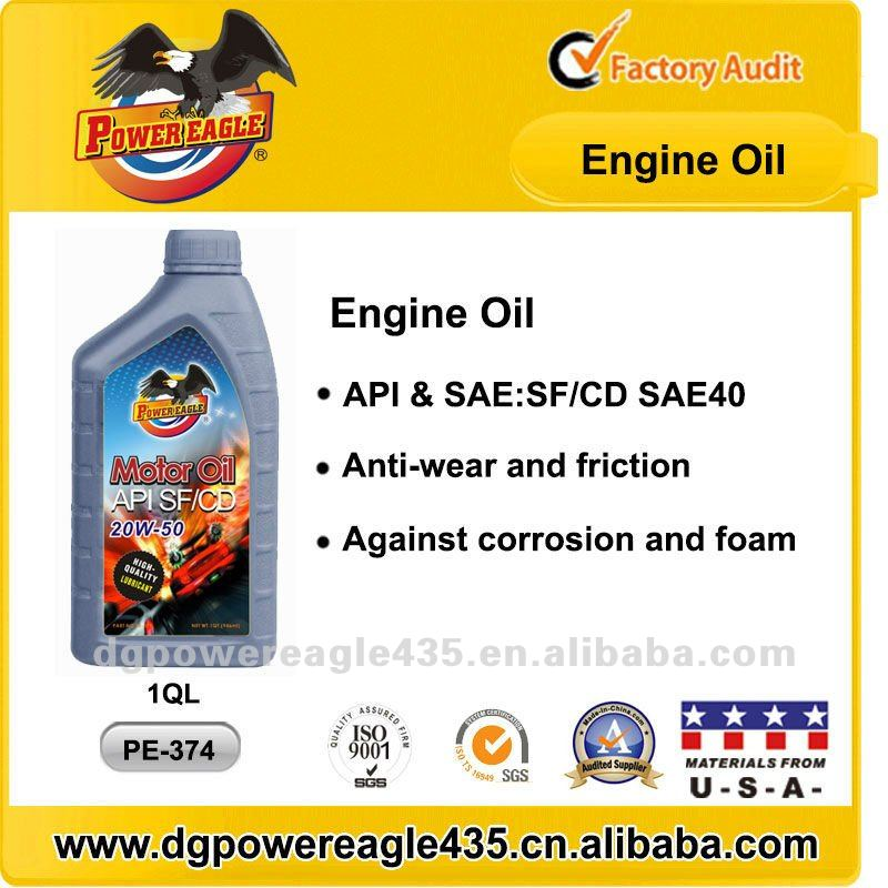 PE API SF/CD Engine Lubricants for Gas or Diesel