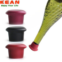 Reusable eco-friendly bpa free silicone decorative wine bottle stoppers wholesale