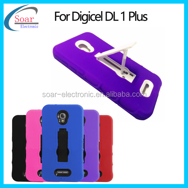 PC Silicone Combo Phone Cover For Digicel DL 1 Plus Back Protective Case For Digicel DL 1 Plus 5.5 Kickstand Case
