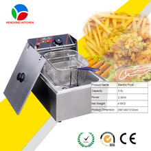 Hot Sell Commercial Electric Mini Deep Fryer Food Machinery/Single Basket Chip Fryer