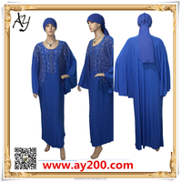 Comfortable muslim dress and chiffon long dress the model of african dress