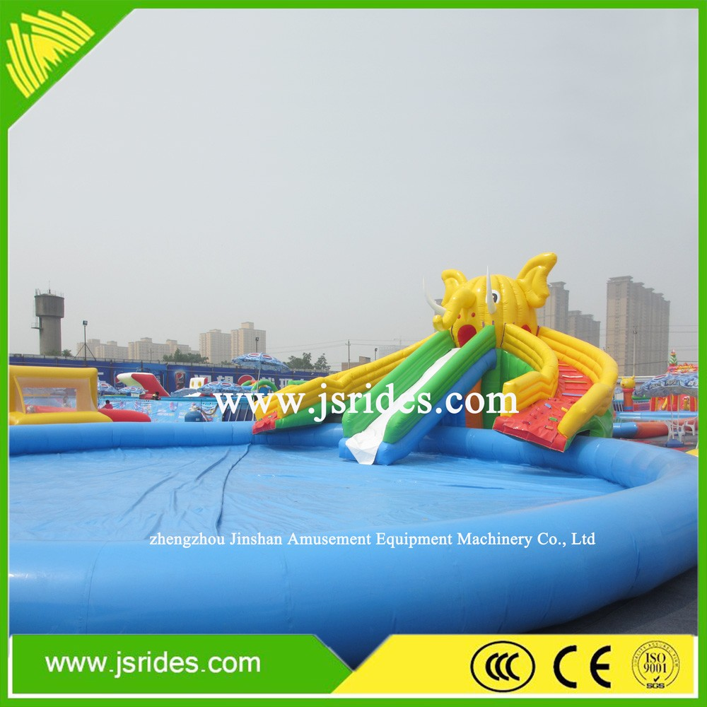 Water park giant inflatable pools with slide