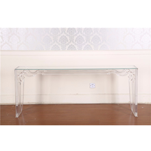 clear acrylic wall console table ,luxury console table