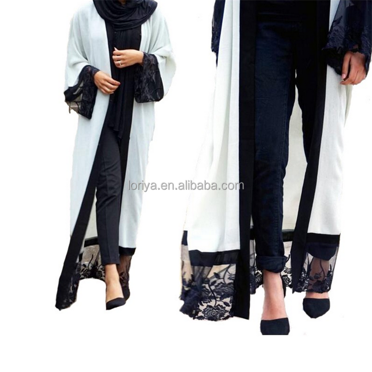 China Manufacturer new model abaya in dubai abaya 2016 beautiful islamic kimono sleeve open abaya latest burqa designs pictures