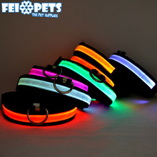 FX0011A Hot Selling Pet With Light Collar Dog Rechargeable Collars