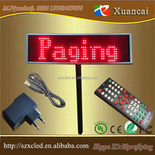 TF Card or IR remoe controller or USB computer rechargeable LED moving message paging board