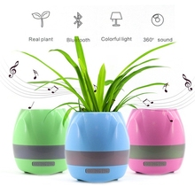 2017 New Funny Cool Gadget Creatively Multifunction Plant Pots Smart Touch Music Flower Pots With Bluetooth Speaker
