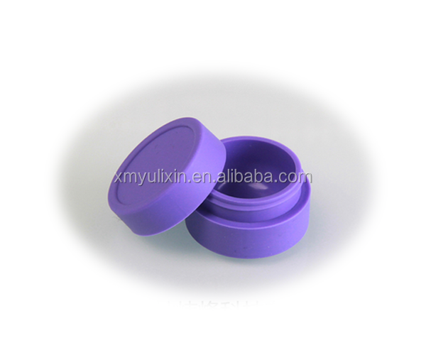Round silicone weed jar wax/oil containers