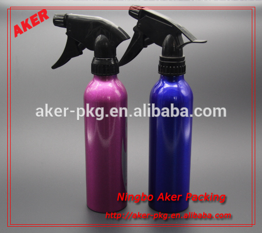 Colorful Trigger Spray Aluminum Bottle For Shampoo, Fish Oil