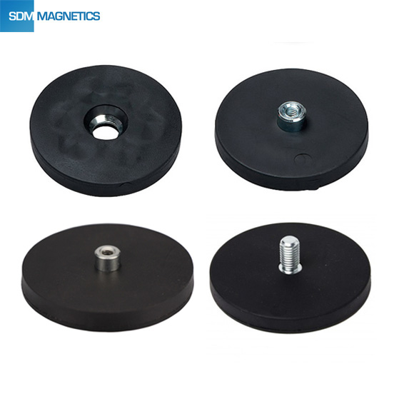 15 Years Experience Strong Holding Force Shore 50-70 Rubber Coated Magnet