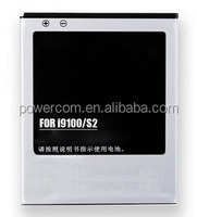 Rechargeable samsung i9100 battery china manufacturer replacement battery