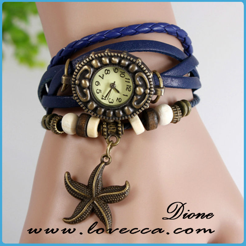 SW-012 top quality stainless steel case sets fashion bracelet watches ladies 2015,ladies bracelet wrist watch-star fish