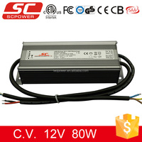0/1-10V Dimming dimmable led driver 24V 80W waterproof for LED strips