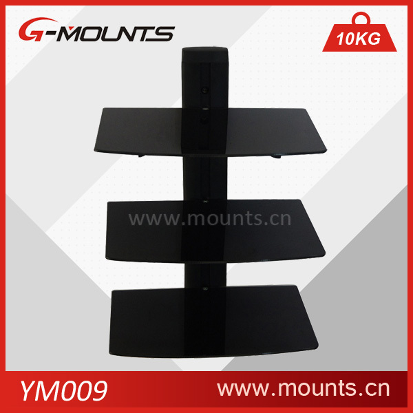 Vertically cold-rolled steel glass dvd player wall bracket