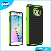 Football pattern silicon pc hybrid phone case for Samsung Galaxy s6 edge plus