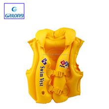 Hot sale Colorful child inflatable water swim vest life jacket safe