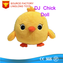 OEM Custom Cartoon Animal Doll Plush Yellow Chick Cartoon Chicken Stuffed Toys