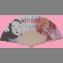 promotion wood hand held fan with customized design
