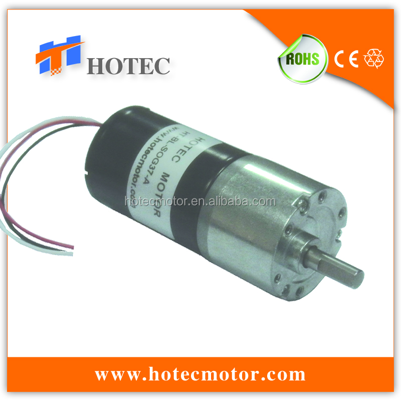 low noise 37mm gearbox high torque cw ccw long life 12v bldc 500rpm motor